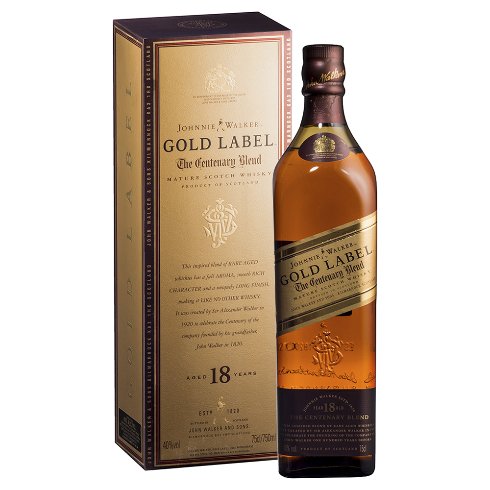 JW GOLD 18 75cl